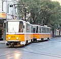 Tram in Sofia near Palace of Justice 2012 PD 002.jpg