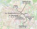 Tram map of Minsk (Belarus), November 2018 — Схема трамвайных маршрутов в Минске (Беларусь), ноябрь 2018.png