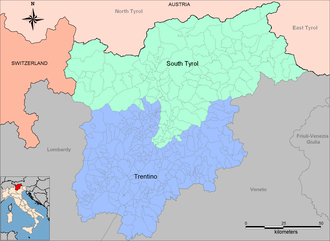 Autonomous province - Italian autonomous provinces of Trentino and South Tyrol