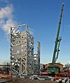 Trial erection of complex steel structure - geograph.org.uk - 1078530.jpg
