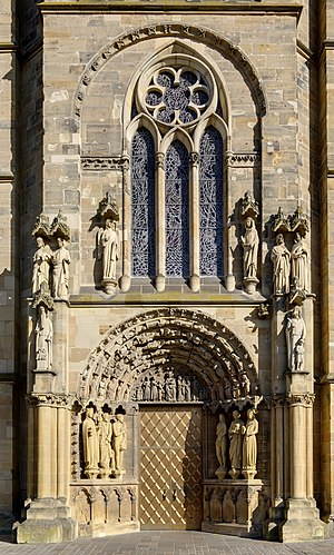 Germany, Trier, Church of Our Lady, main portal