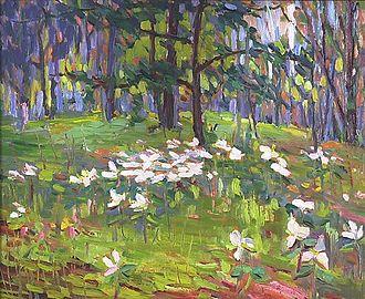 Lily Osman Adams - Image: Trilliums by Lily Osman Adams
