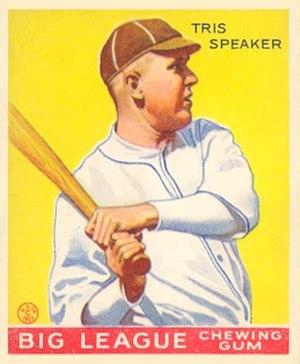Tris Speaker - Speaker's 1933 Goudey Gum Company baseball card