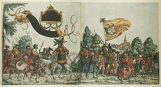 series of woodcut prints commissioned by Emperor Maximilian I