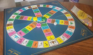 Trivial Pursuit - Board and pieces of Trivial Pursuit.