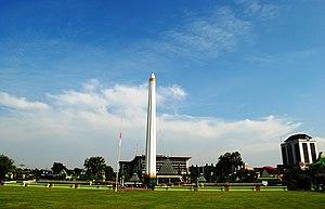 Heroic Monument, Surabaya, Indonesia. Bahasa I...