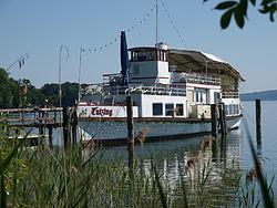 Museum ship Tutzing on Lake Starnberg