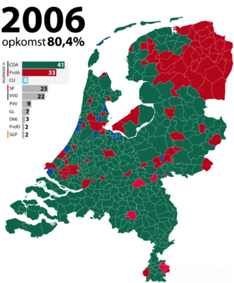 Dutch general election, 2006 - Image: Tweede Kamerverkiezingen 2006