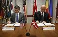 U.S. Customs and Border Protection Deputy Commissioner Kevin K. McAleenan and Deputy General, Danish Customs and Tax Administration Preben Bucholtz Hansen sign a memorandum of cooperation between the U.S. and Denmark.jpg