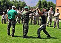 U.S. Marines assigned to the Marine Corps Security Force Europe's Fleet Anti-Terrorism Security Team practice crew control techniques at the NATO Maritime Interdiction Operational Training Center in Souda Bay 130822-N-MO201-047.jpg