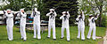 U.S. Sailors of the Naval Station Great Lakes Honor Detail render a rifle salute, with M-14 rifles, during a Memorial Day service at the Naval Station Great Lakes marina on Lake Michigan at Great Lakes, Ill. 080526-N-IK959-488.jpg