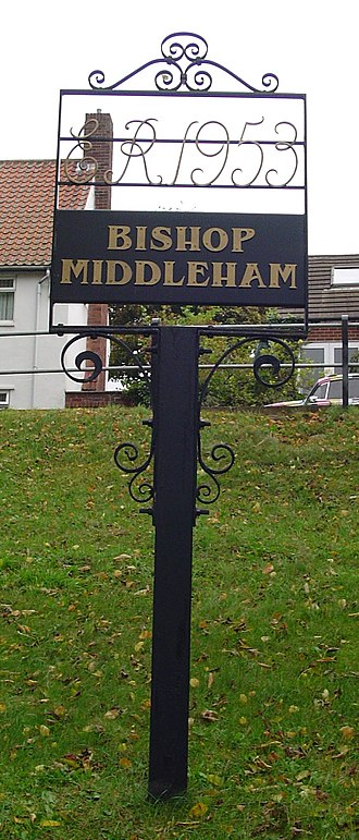 Bishop Middleham - Signpost in Bishop Middleham