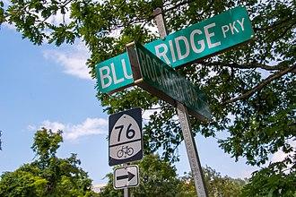 U.S. Bicycle Route 76 - USBR 76 at Rockfish Gap