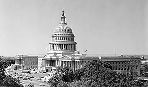 83rd United States Congress - Image: US Capitol 1956