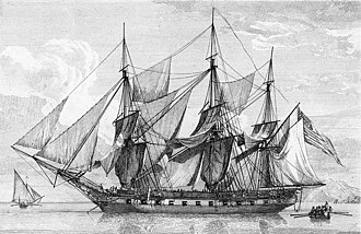 California hide trade - The USS Boston, a vessel similar to those trading in California ports