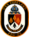 USS Copeland (FFG-25) insignia, 1981 (NH 100913-KN).png