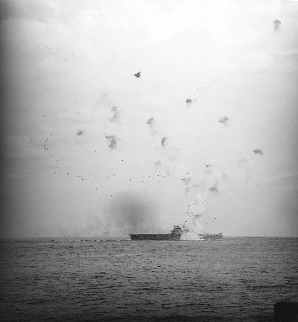 file uss enterprise  cv-6  hit by kamikaze on 21 may 1945  80-g-323565  jpg
