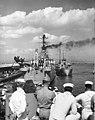 USS Providence (CL-82) at Gibraltar in September 1948.jpg
