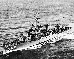 USS Smalley (DD-565), underway, c. the mid-1950s