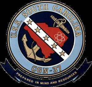 USS South Carolina (CGN-37) - Image: USS South Carolina (CGN 37) insignia 1980