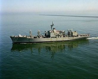 USS Sylvania (AFS-2) - USS Sylvania (AFS-2) underway in 1982