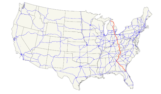 U.S. Route 23 - Image: US 23 map
