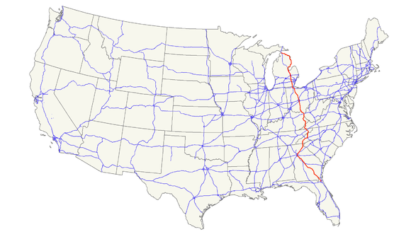 US Route Wikiwand - Us 23 map