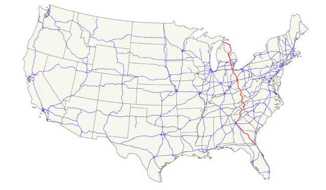 Fileus 23 Mappng Wikimedia Commons - Us-23-map