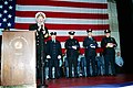 US Navy 020326-N-2003S-005 World Trade Center Flag ceremony aboard CVN 71.jpg