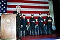US Navy 020326-N-2003S-005 World Trade Center Flag ceremony aboard CVN 71.jpg