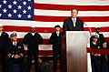 US Navy 021030-N-0967W-020 Michael Reagan addresses PCU Ronald Reagan Sailors.jpg