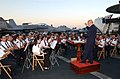 US Navy 040628-N-3397A-001 The Maltese National band plays during the Sunset Parade reception aboard the conventionally powered aircraft carrier USS John F. Kennedy (CV 67).jpg