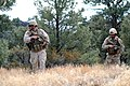 US Navy 061115-N-0096V-039 Explosive Ordnance Disposalman 1st Class Tim Idom and Explosive Ordnance Disposalman 1st Class Ray Kassow conduct reconnaissance operations for hidden weapons.jpg