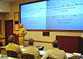 US Navy 080206-N-5476H-002 Adm. Robert F. Willard, commander of the U.S. Pacific Fleet, speaks to attendees of the 2008 Scientific Operational Naval Acoustic Research Conference on Marine Mammals.jpg