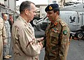 US Navy 080827-N-9580K-016 Chairman, Joint Chiefs of Staff, Adm. Mike Mullen greets Pakistani Chief of Army Staff, Gen. Ashfaq Kayani.jpg