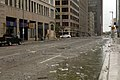 US Navy 080913-N-6639M-004 Glass and debris cover the streets of downtown Houston after Hurricane Ike, which hit the Texas Gulf Coast early Saturday morning Sept. 13 as a major hurricane.jpg