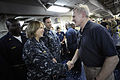 US Navy 100301-N-5549O-369 Secretary of the Navy (SECNAV) the Honorable Ray Mabus visits with Sailors and Marines aboard USS Bataan (LHD 5).jpg