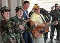US Navy 100303-N-5961C-004 Musician Jimmy Buffet performs for members of Joint Task Force Haiti.jpg