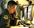 US Navy 101109-N-7498L-096 Air Force Capt. Jon Ma, assigned to the 15th Wing Command Post, is the air operations representative at the Joint Base P.jpg
