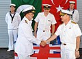 US Navy 101129-N-0000X-001 Pakistan Navy Commodore Abdul Aleem assumes command of Combined Task Force (CTF) 151 from Turkish Navy Rear Adm. Sinan E.jpg