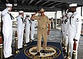 US Navy 120126-N-BK435-029 Adm. Cecil Haney, commander of U.S. Pacific Fleet passes through sideboys upon his arrival aboard submarine tender USS F.jpg