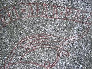Granby Runestone - Image: U 337, Granby Detail