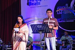 Uday Ramachandran - Uday Performing with Smt. Vani Jayaram at Kozhikode 2012