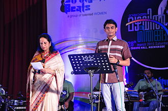Uday Ramachandran - Uday Performing with Smt. Vani Jayaram at Kozhikode 2012