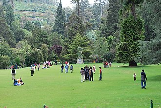 Botanical garden - Botanical garden at Ooty, a hill station in India.