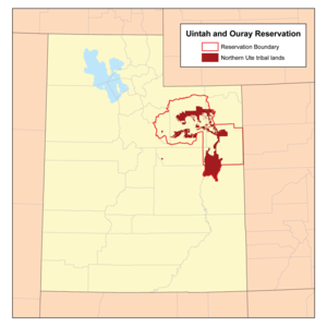 Uintah and Ouray Indian Reservation - Image: Uintah I Rmap
