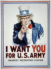 Uncle sam propaganda in ww1