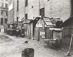 Unemployed and huts, West Houston - Mercer St., Manhattan (NYPL b13668355-482854).jpg