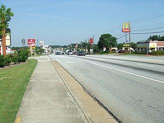 Georgia State Route 138 - Westbound Route 138 as it runs through Union City.