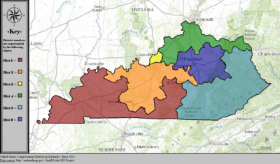 United States Congressional Districts in Kentucky, since 2013.tif